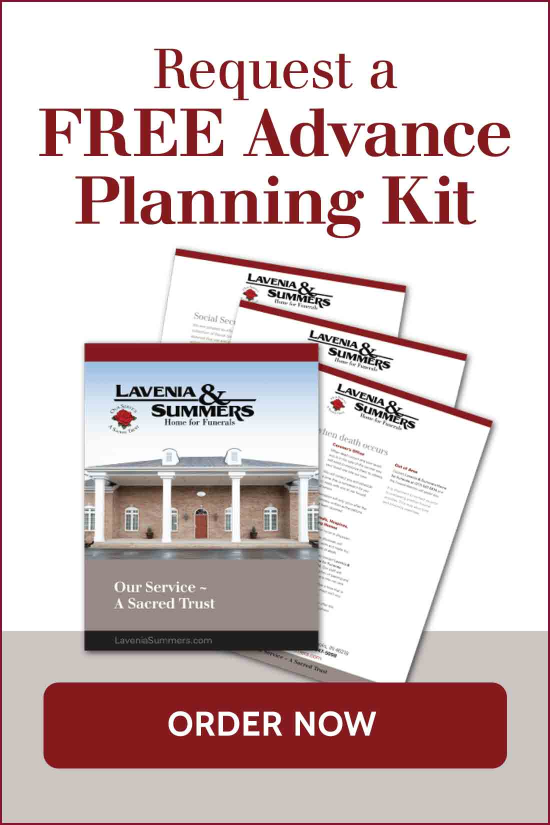 Request a Funeral Planning Kit FREE